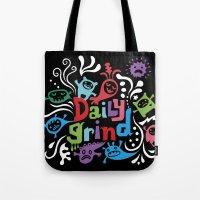Daily Grind - black Tote Bag