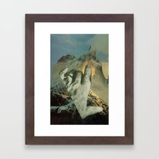 geography dwarfed by scope of events Framed Art Print
