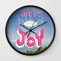 Life is A Single Skip for Joy Wall Clock