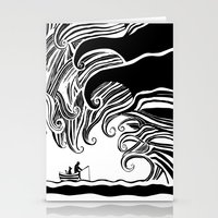 Dark Wave Stationery Cards