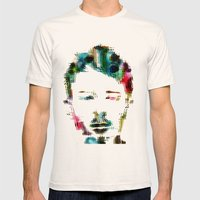 Thom Yorke Mens Fitted Tee Natural SMALL