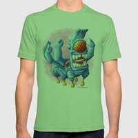 He Sure Looks Happy Mens Fitted Tee Grass SMALL
