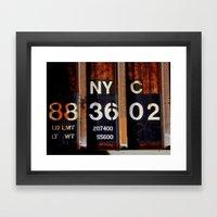 NYC 88 36 02 Framed Art Print