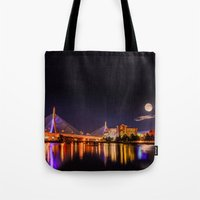 Moon Light Over Zakim Br… Tote Bag