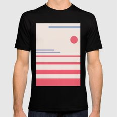 Abstract minimalistic landscape part1 Mens Fitted Tee Black SMALL