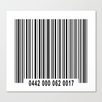 Barcode 1 Canvas Print