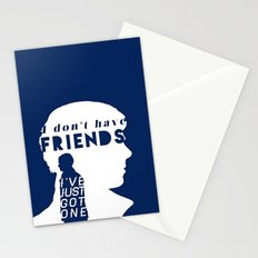 I don't have friends Stationery Cards