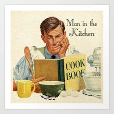 A Man in the Kitchen Art Print
