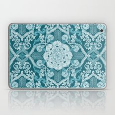 Centered Lace - Teal  Laptop & iPad Skin