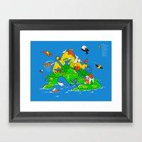 Where The Watermelons Gr… Framed Art Print