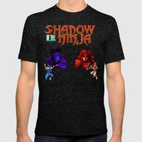 Shadow Of The Ninja- Blu… Mens Fitted Tee Tri-Black SMALL