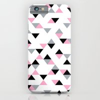 Triangles Black and Pink iPhone 6 Slim Case