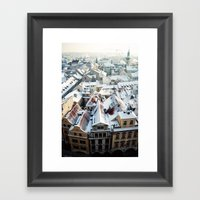 Praha Horizons Framed Art Print