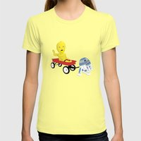 SW Kids - C3PO & R2D2 Re… Womens Fitted Tee Lemon SMALL