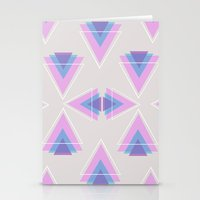 TRIANGLES IN COLOUR Stationery Cards
