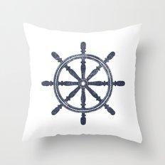 Nautical Wheel  Throw Pillow