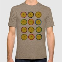 Flowers Mens Fitted Tee Tri-Coffee SMALL