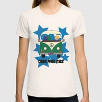 Ride the Bus - Boy Womens Fitted Tee Natural SMALL
