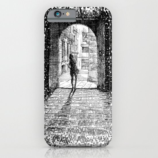 Light - Black ink iPhone & iPod Case