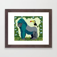 The Gorilla and The Toucan Framed Art Print