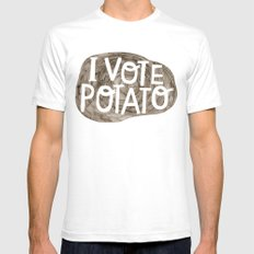 I VOTE POTATO White Mens Fitted Tee SMALL