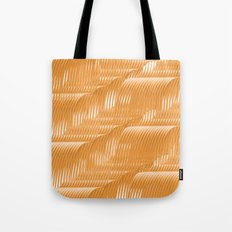 Orange waves background Tote Bag