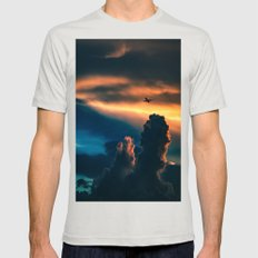 above the clouds Mens Fitted Tee Silver SMALL