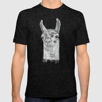 Llama Mens Fitted Tee Tri-Black SMALL