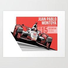Juan Pablo Montoya - 2015 Indianapolis Art Print