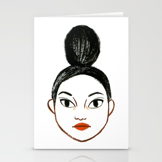 Top Knots Stationery Card