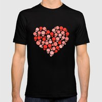 SKULL HEART FOR VALENTINE'S DAY Mens Fitted Tee Black SMALL