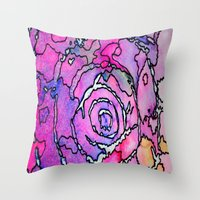 Throw Pillow featuring Imagination Map by Renee Trudell