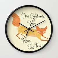 Catch for Us the Foxes Wall Clock
