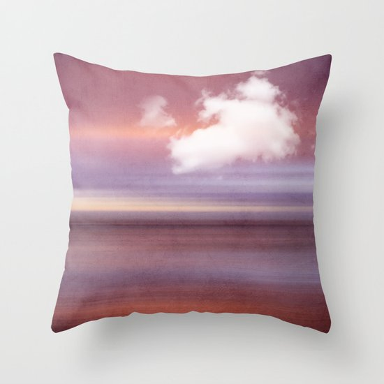 TIME AND SILENCE Throw Pillow