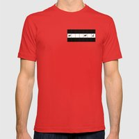 One across (little clue) Mens Fitted Tee Red SMALL