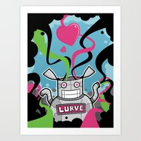 Lurve Bot Art Print