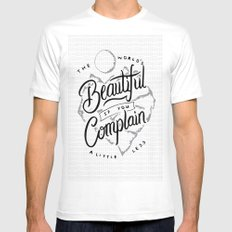 The World's Beautiful If You Complain A Little Less SMALL White Mens Fitted Tee