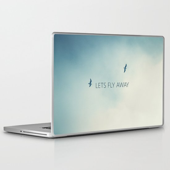 LETS FLY AWAY Laptop & iPad Skin