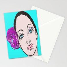 Ballet Dancer in blue (series) Stationery Cards