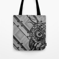 Gray Owl Tote Bag