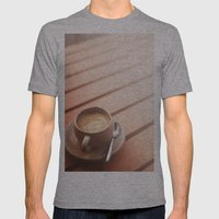 Coffee Mens Fitted Tee Athletic Grey SMALL