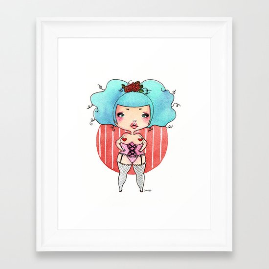Chubby Heart Framed Art Print