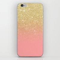 Modern Gold Ombre Pink C… iPhone & iPod Skin
