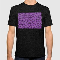 Yzor pattern 006-3 kitai lilac Mens Fitted Tee Tri-Black SMALL