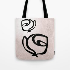 Flowers, Mother-Daughter, Pink Tote Bag