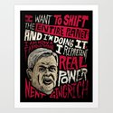 Newt Power Art Print