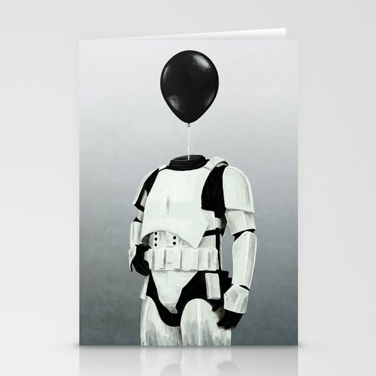 The Stormtrooper - #2 in the Balloon Head Series Stationery Card