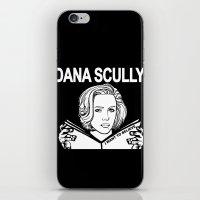 Dana Scully (black) iPhone & iPod Skin