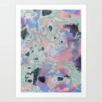 Plastic Pastel Nature Art Print
