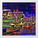 In the port Canvas Print